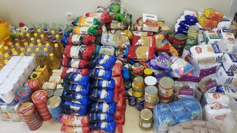 Продължава кампанията за набиране натрайни хранителни продуктиза възрастни хора от