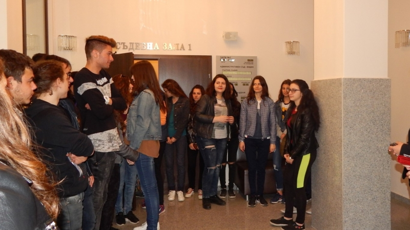 Ученици се запознаха с работата на Административния съд във Видин