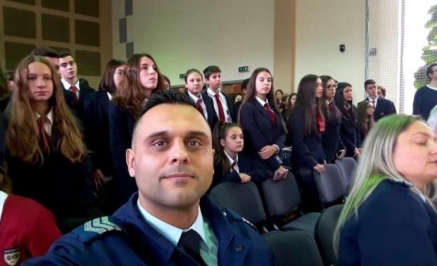 Младши автоконтрольор Стойчо Яковски от Областната дирекция на МВР в