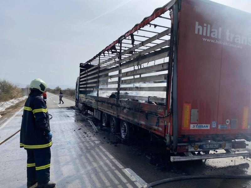 МВР потвърди новината за пламналия ТИР на Е-79 край село