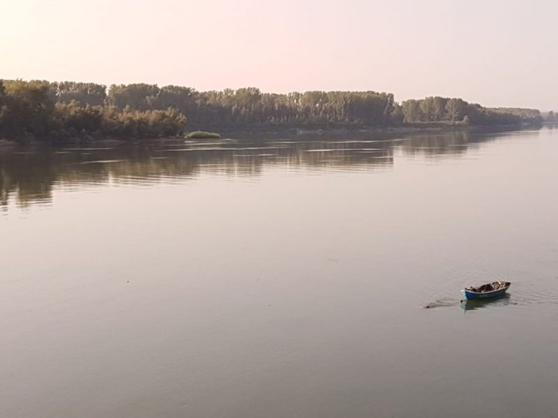 Нивото на Дунав в началото на българския участък на реката