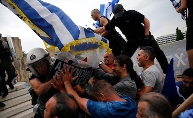 Протестиращи блокираха пътищата в района на гръцкото село Псарадес, където