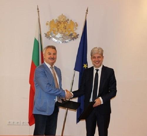 Министърът на околна среда и водите Нено Димов и кметът
