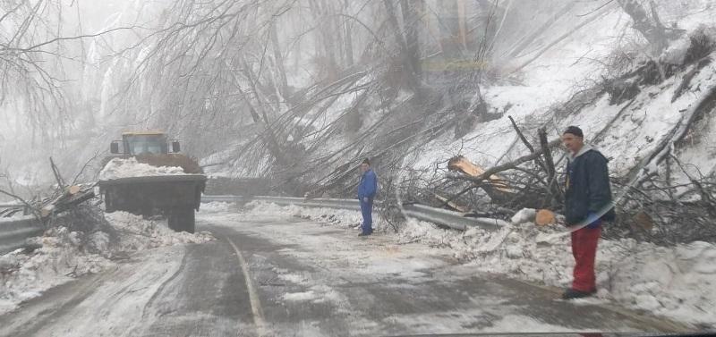 """На пътя към Леденика е страшно! Екипи на """"БКС"""" и пожарната продължават да разчистват трасето /снимки/"""