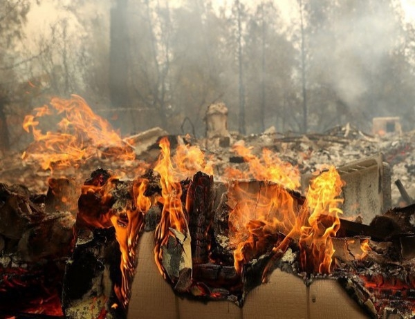 Частично под контрол са поставени пожарите на гръцките острови Андрос
