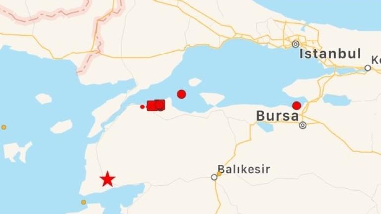 Силен трус разтърси турския град Чанаккале, съобщават местни медии. Силата