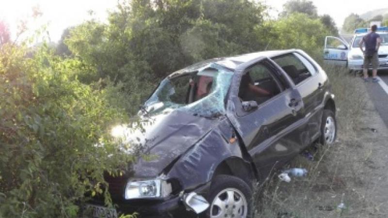Пиян шофьор е катастрофирал на пътя между мездренските села Зверино