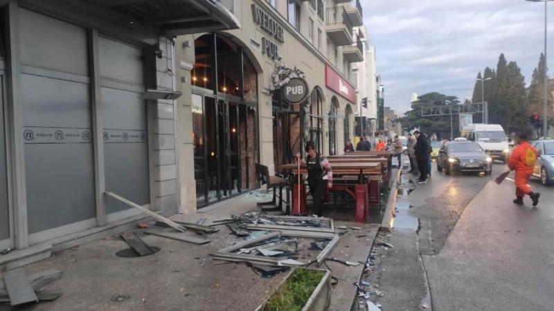 Леки щети са нанесени на българското посолство в Подгорица, Черна