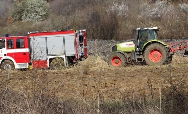 Пожар пламна към 9 часа тази сутрин на пътя Кочериново-Рила-Рилски