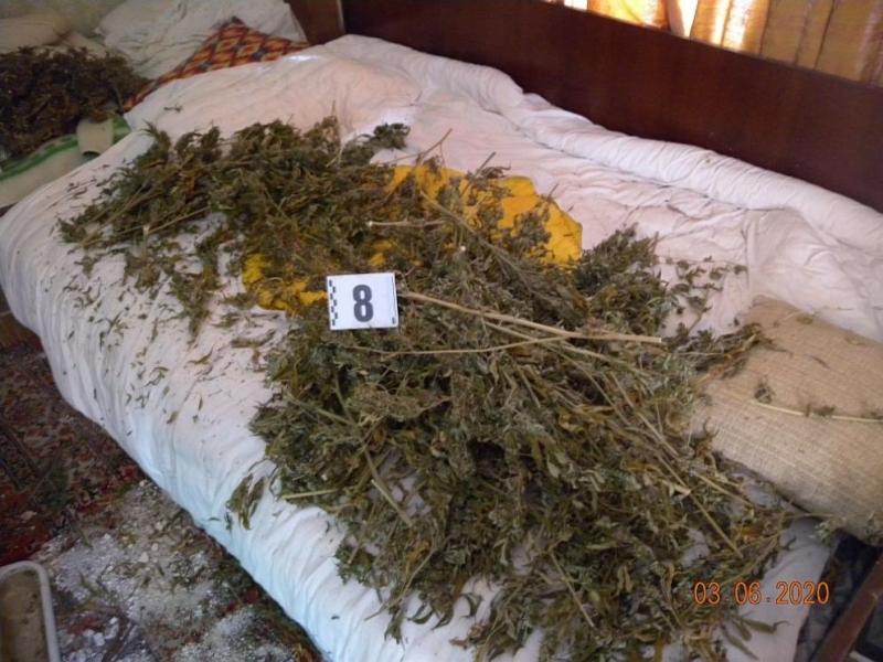 Близо 4.5 кг суха тревна маса (канабис) е открита в