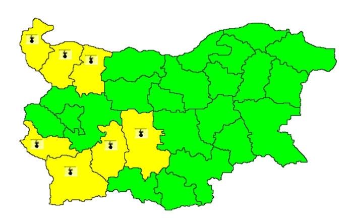 Днес е обявен жълт код за опасно горещо време в