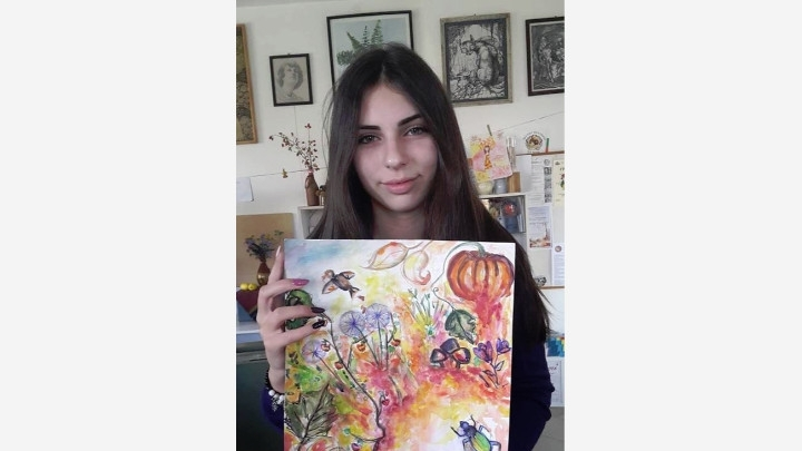 Златен медал за рисунка получиСияна Яворова Джелебскаот Монтана. Високата награда