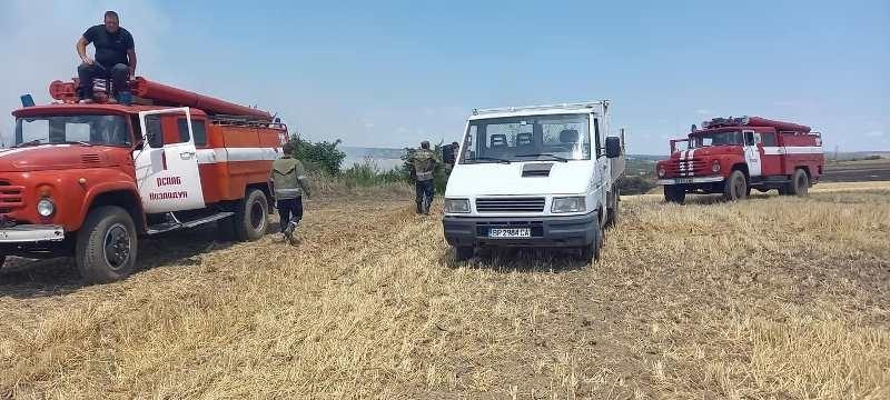 Пожар е избухнал в землището на врачанското село Софрониево, научи