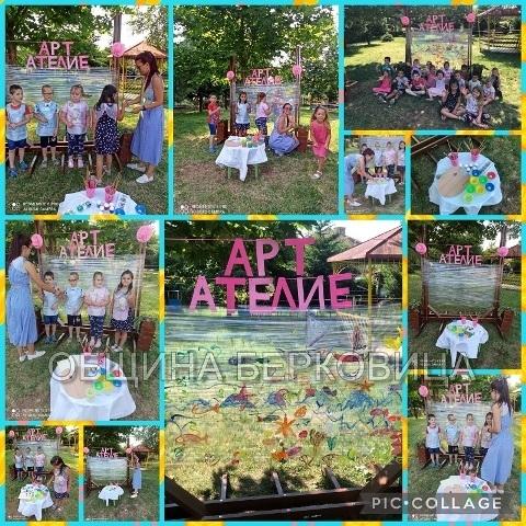 """Деца от Берковица рисуваха пъстри картини в детска градина """"Малина"""","""
