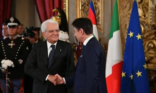 Новото правителство на Италия тържествено положи клетва. Кабинетът беше формиран
