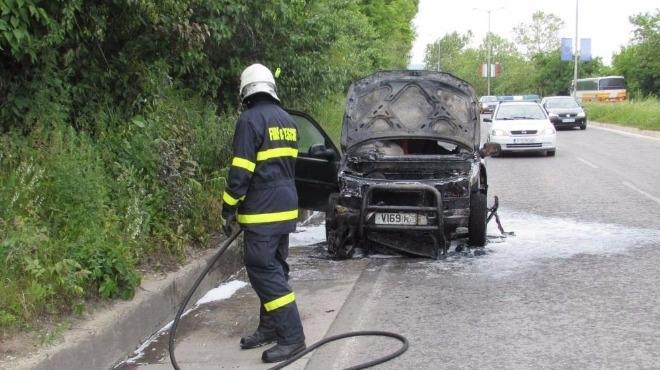 Кола пламна в движение във Видинско, съобщиха от пресцентъра на