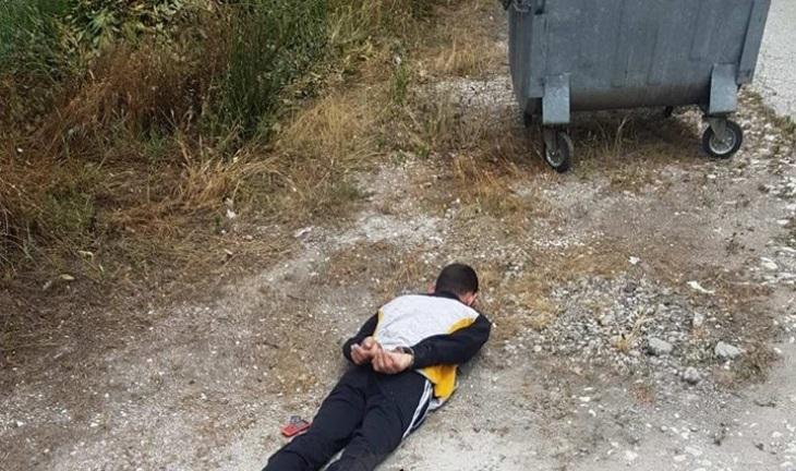 Млад мъж е арестуван зрелищно при акция на ченгетата от