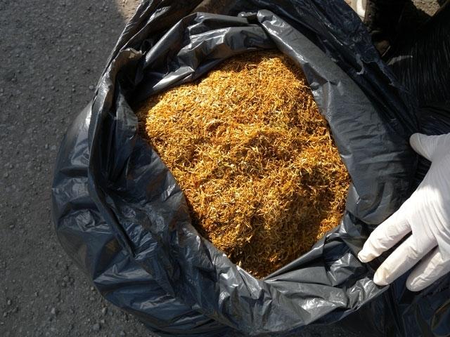 Нелегален тютюн с общо тегло около 6 кг иззели вчера