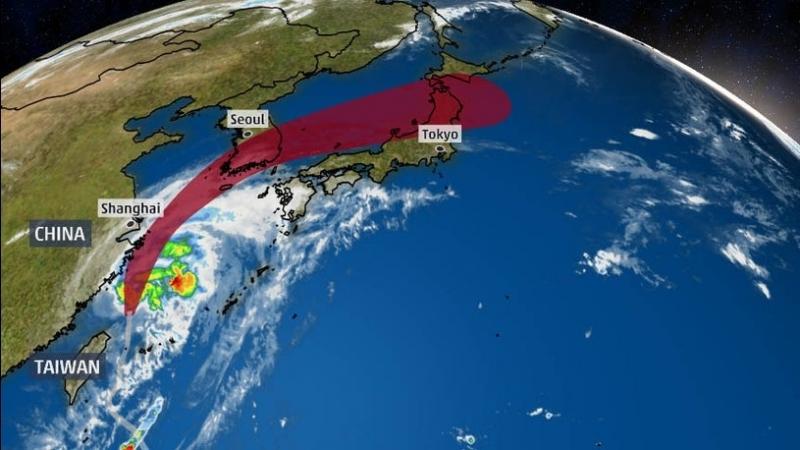 """Тайфунът """"Митаг"""" причини смъртта на най-малко четирима души в Южна"""