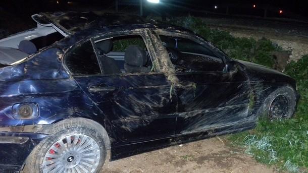 Лек автомобил е катастрофирал снощи на пътя между Враца и