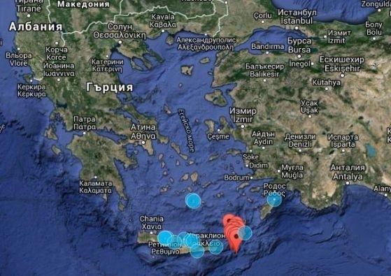 Седем сеизмични труса са регистрирани днес в района на Спорадските