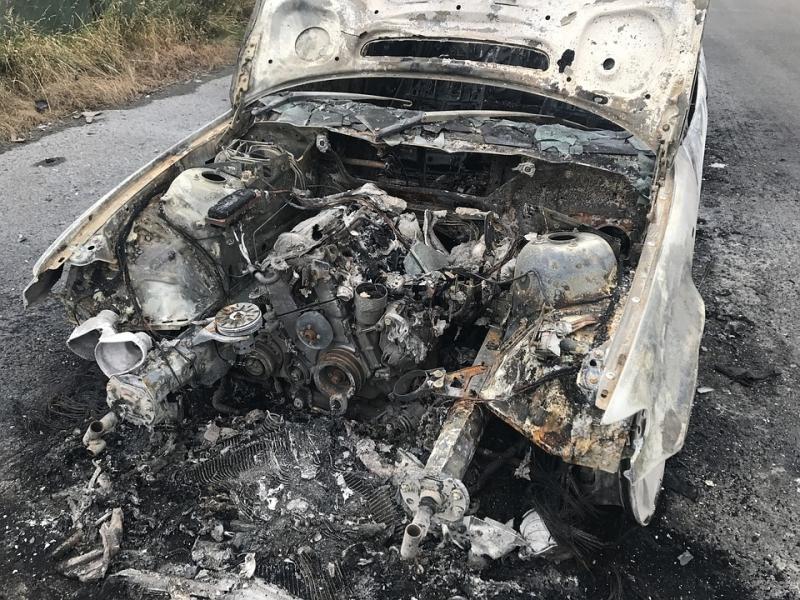 Кола е горяла вчера във видинското село Раяновци, съобщиха от