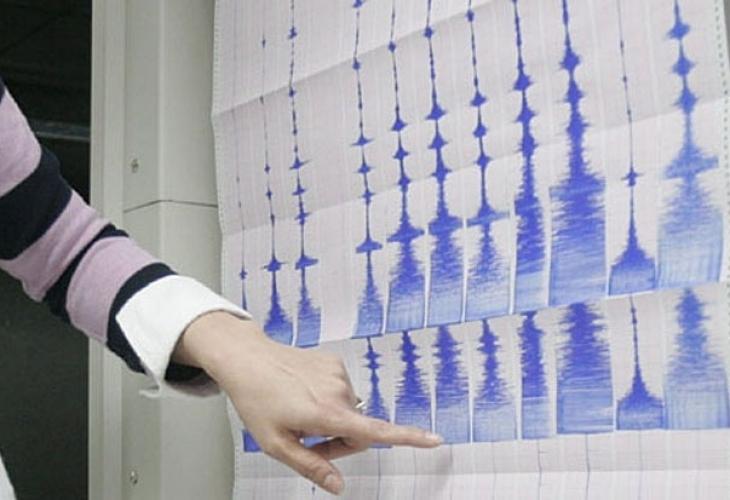 Земетресение с магнитуд 2.9 по скалата на Рихтер е регистрирано