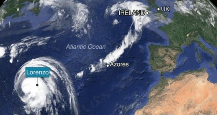 Никога досега един ураган в източната част на Атлантическия океан