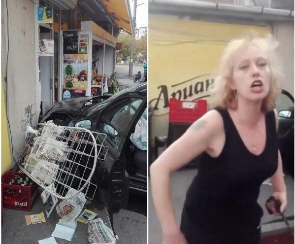 Пияната жена, врязала се с колата си в магазин, се размина с подписка
