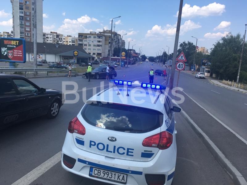 Катастрофа е станала на надлеза до КАТ във Враца, видя