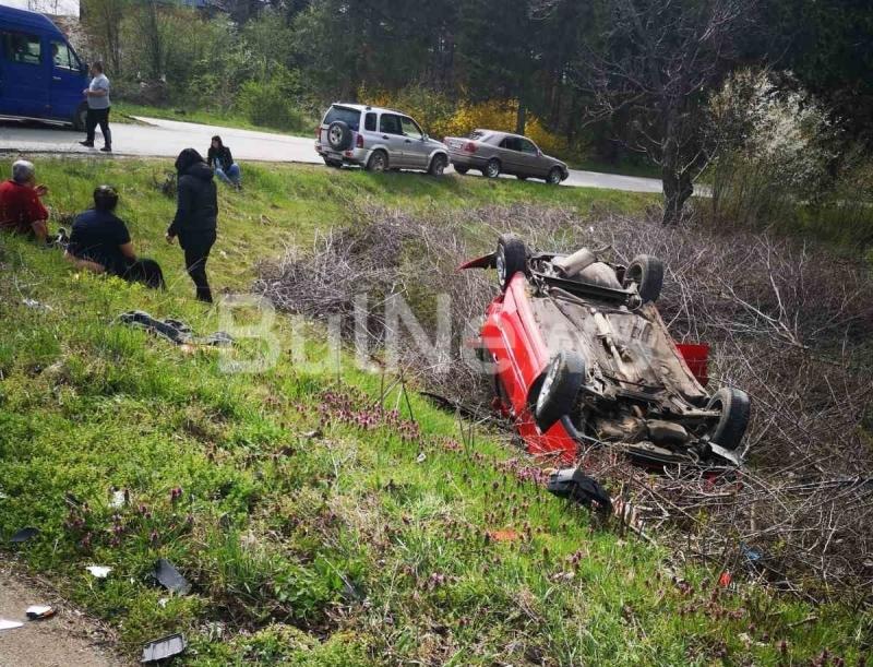 Тежка катастрофа е станала преди минути между врачанските села Борован