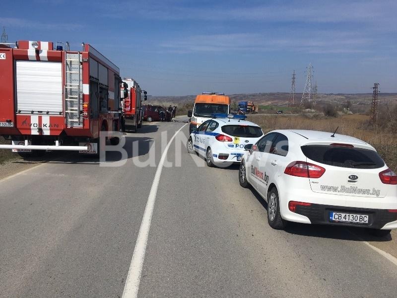 Тежка катастрофа е станала на Криводолско шосе, видя първо агенция