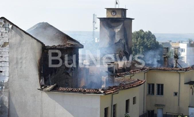 Унищожителният пожар, който вилня вчера в читалището в козлодуйското село