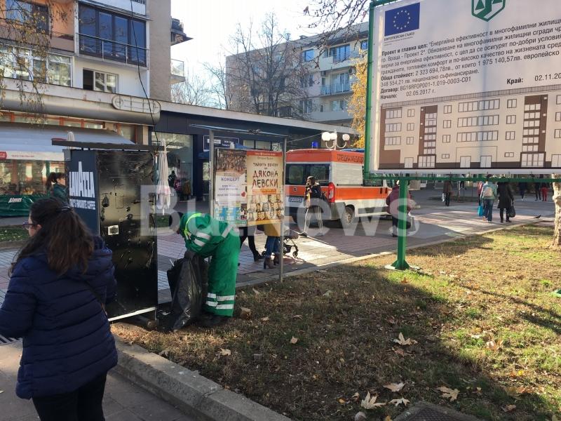 Линейка влезе в пешеходната зона на Враца, популярна като Пробива,