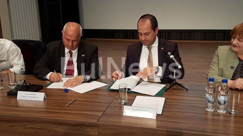 Днес кметът на община Враца Калин Каменов подписа договор с