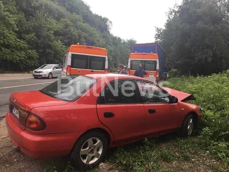 Тежка катастрофа е станала на международен път Е-79 край Мездра,