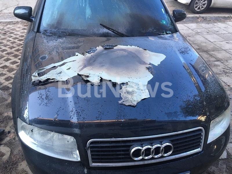 """Лек автомобил """"Ауди А4"""" е бил подпален пред блок във"""