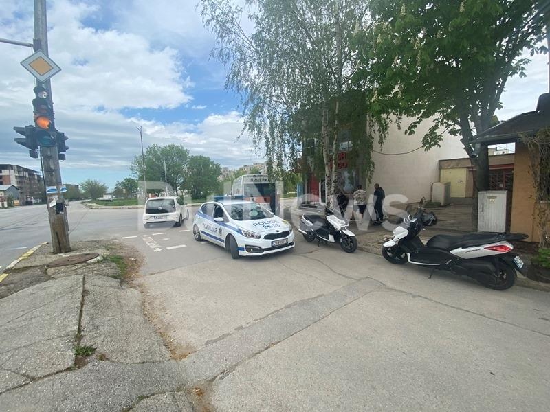 Линейка е блъснала моторист във Враца, видя първо репортер на